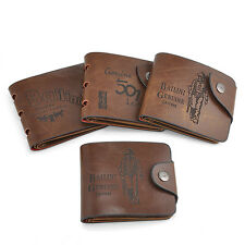 Hot Men Genuine Leather Bifold Wallet Credit/ID Card Holder Organizer Coin Purse