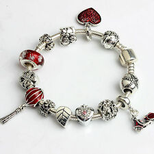 For Women Girl Gift European Charms Bracelets Crystal Rhinestone Bracelet Bangle