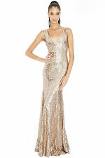 Ladies Long Sequin Evening Maxi Dress Ball Gown Prom Party Women's Sizes 10, 12