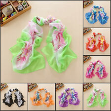 New Lady Women Soft Chiffon Solid Wrap Shawl Scarves Pretty long Scarf lot Stole