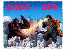 King Kong vs Godzilla Amazing 1962 Movie Vintage Art HUGE GIANT PRINT POSTER