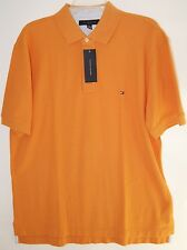 Tommy Hilfiger Men's Polo Shirt Orange Large 100% Cotton New w Tags MSRP $49