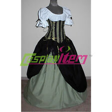 Gothic Medieval Renaissance Victorian Ball Gown Wench Pirate Costume Dress