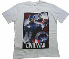 Marvel Men's Captain America Iorn Man Civil War Short Sleeve Cotton T-Shirt