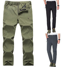 Outdoor Sports Pants Men's Quick Gry Stretch Waterproof Climbing Hiking Trousers