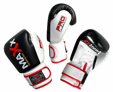 Maxx 100% Leather Boxing Gloves Fight Punch Bag MMA Muay thai Gloves Pad Gloves
