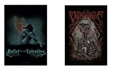 BULLET FOR MY VALENTINE - BURNING / SKELETON - OFFICIAL TEXTILE POSTER FLAG