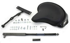 Police SOLO SEAT with T-MOUNT & POGO PLUNGER for Harley Knuckle UL Pan