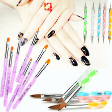 1pc-15pcs Nail Art Design Set Dotting Painting Drawing Polish Brush Pen Tools