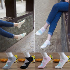 5 Pairs Soft Womens Motion Socks Comfortable Breathable Low Cut Pure Cotton Sock