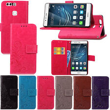 For Huawei Ascend P8 Lite P9 P9 plus Flip Stand Leather Wallet Pouch Case Cover