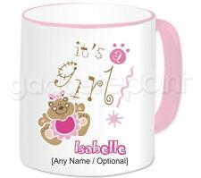Personalised IT'S A GIRL Gift Mug Congratulations on the Birth New Baby Present