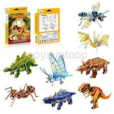 3D DINOSAUR ANIMAL INSECT PUZZLE Stocking Filler Party Bag Toy Children Kid Gift