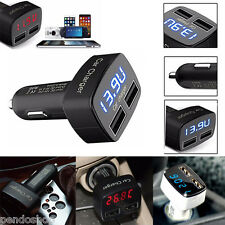 Universal 4In1 Dual USB Car Charger Adapter Voltage DC 5V 3.1A For iPhone lot