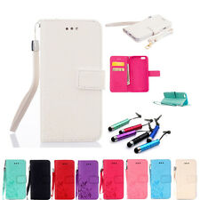 Hot Luxury Flip Stand Card Wallet Leather Case Cover For iPhone+Free Gift+2 Rope