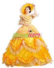 Yellow Lolita Medieval Renaissance Victorian Ball Gown Wedding Dress Costume
