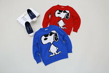 New Childrens Kids Winter Junior Jumper Knitted Sweater Assorted Snoopy Design