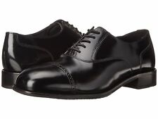 Florsheim Men's Lexington leather Cap Toe Black Shoes 17067-01