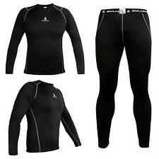 Mens Cycling Jersey Shirt Bike Bicycle Baselayer Underwear Long Sleeve Sports WS