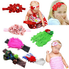 Unusal Girls Baby Feather Hairband with Cute Rose Headband WS