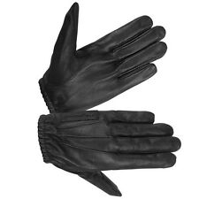 HUGGER Motorcycle Police Style Search Driving Gloves Women's Leather