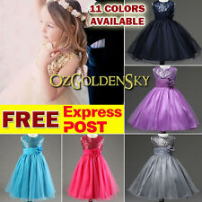 Sequin Flower Girls Dress Princess Vintage Pageant Birthday Party Wedding Dress