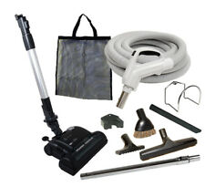 30' or 35' Deluxe Central Vacuum Kit w/Hose, Power Head & Tools For Eureka