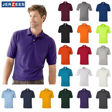 JERZEES Mens SpotShield 50/50 Sport Polo Shirt S-5XL 437MSR Cotton/Polyester