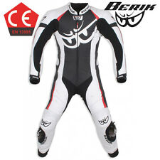 15 Berik Vision CE Race Motorcycle 1pc Leather Suit White Black Red Road Bike