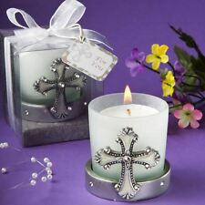 6 X Regal Cross Themed Candle Holder Baptisms Christenings Confirmation Favors