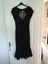 Black Mid Length Fitted Spin Doctor Dress