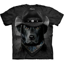 COWBOY LAB Labrador Retriever The Mountain Funny Black Dog Face Shirt S-3XL NEW