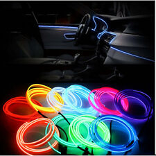 Battery Powered  Flexible EL Wire Neon Light Dance Party Car Decor + Controller