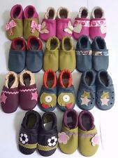 New handmade soft multi-color leather toddler baby shoes infant slip on slippers