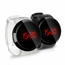 Men's Fashion Jelly Silicone Strap Display Digital Touch Screen LED Wrist Watch