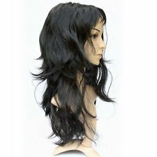 5x(CF Lady's Long Curly Fancy Dress Wigs Black Cosplay Costume Ladies Wig Party)