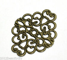 Wholesale New Bronze Tone HOTSELL Flower Wraps Connectors 37x30mm