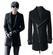 Fashion Men Casual Slim fit zipper Suit Coat Jacket overcoat outwear peacoat lk