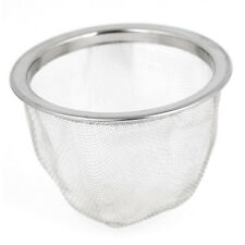 63mm Silver Tone Stainless Steel Wire Mesh Tea Leaves Spice Strainer Basket WS