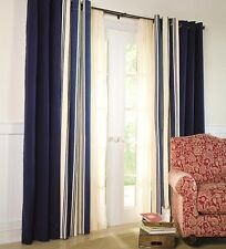 """Thermalogic™ Wide Stripe Grommet-Top Insulated Window Curtains 84""""L"""