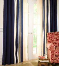 "Thermalogic™ Wide Stripe Tab-Top Insulated Window Valance 40""W x 15""L"
