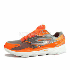 Skechers Go Run Ride 4 Nite Owl Series [53851ORGY] Running Orange/Grey