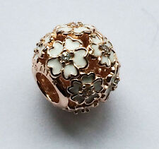 Genuine PANDORA Rose White Primrose Meadow Charm 781488EN12 FREE DELIVERY
