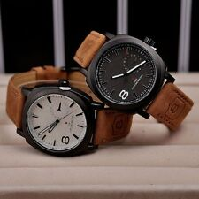 luxury brand quartz watch Casual Fashion Leather watches men Sports Watches