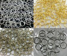 4mm,5mm,6mm,8mm,10mm,12mm,14mm Jump Rings Open Connectors Jewelry Finfing  D7B