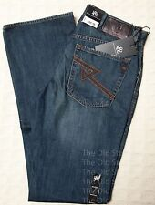 ROCK & REPUBLIC Mechanic BOOTCUT Distressed Denim Jeans Dark Blue 100% Cotton Mn