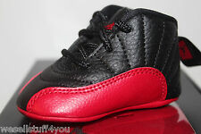 Air Jordan Retro 12 XII Flu Game Black Red Sneakers Toddler's GP Size 1C 2C 3C