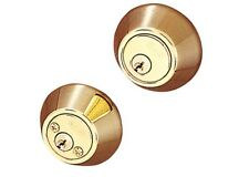 BHP 10703PB Double Cylinder Dead Bolt Security Lock - Polished Brass