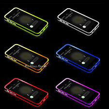 Incoming Call LED Flash Light Clear Protective Case Cover For iPhone 6 6S Plus