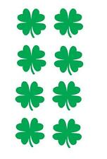 "(8) 1"" clover 4 leaf vinyl Decal sticker any size color surface car wall S009"